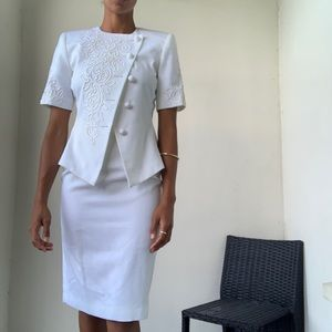 Vintage Kasper white suit